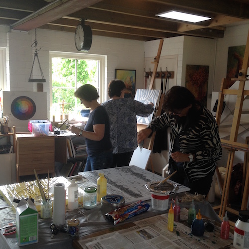 Een workshop in mijn atelier